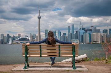 Papiers peints Toronto Toronto City Scape Girl