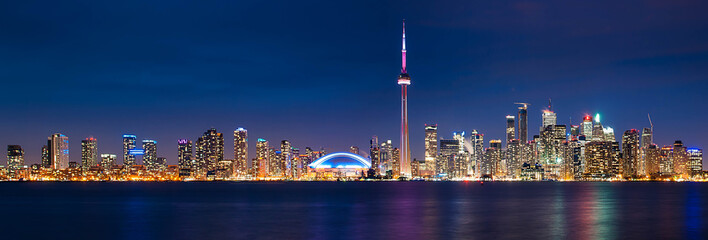 Printed roller blinds Toronto Toronto Cityscape Night