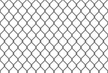 Seamless iron net illustration. metal net fence. Vector background.