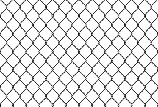 Iron net illustration. Safety metal net barrier. Prison gate security fencing. Simple vector seamless pattern background.