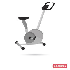 Exercise bike color flat icon for web and mobile design
