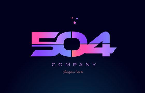 504 pink magenta purple number digit numeral logo icon vector