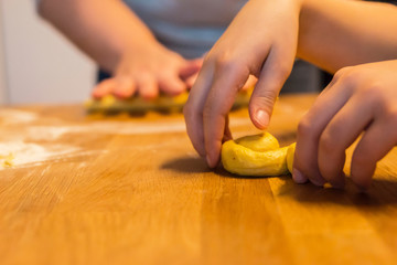 Baking saffron bun