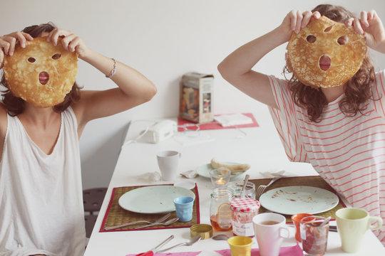 Pancakes breakfast masks!