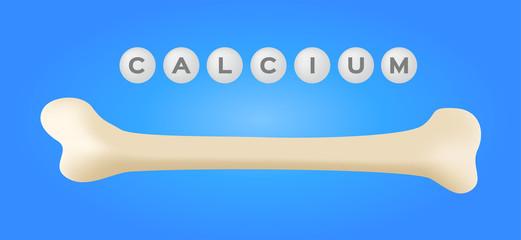 bone calcium vector