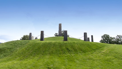 Norway, Frosta Thing Hill (Tinghaugen) Stone monuments