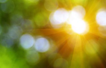 Green blurred background