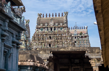 Towers (gopurams)  of Hindu temple