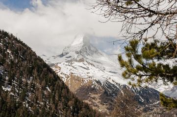 Zermatt, Findeln, Matterhorn, Wanderweg, Wallis, Trockener Steg, Zmutt, Furi, Frühling, Alpen, Walliser Berge, Findelbach, Schweiz