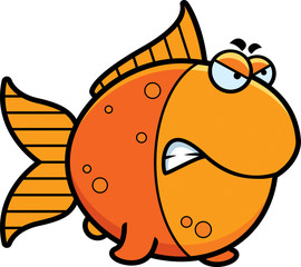 Angry Cartoon Goldfish