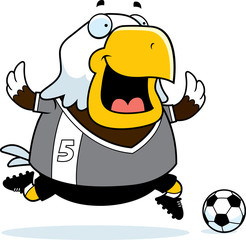 Cartoon Eagle Soccer