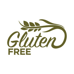 Gluten free in organic heallthy food products logo design
