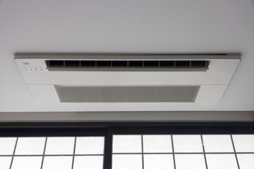 air conditioner installed on the ceiling