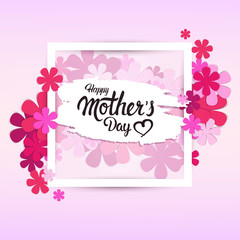 Happy Mother Day, Spring Holiday Greeting Card Banner Flat Vector Illustration
