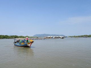 Fishing Boat on Mekong Delta South of Ho-Chi-Minh-City near Vung Tau in South Vietnam