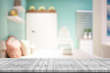 blurred background of home Bedroom