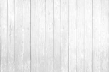 White Wood Wall Texture Background.
