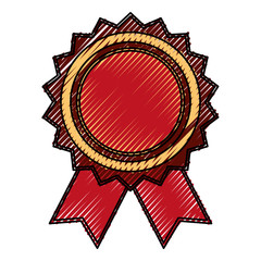 Award ribbon blank icon vector illustration graphic design