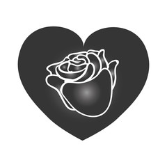 Heart and love icon vector illustration graphic design