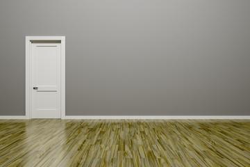 grey wall and door background