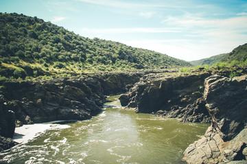 Guadiana river valley natural park in Alentejo Portugal