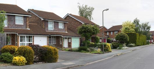 Typical British Houses in Addlestone, London, UK.