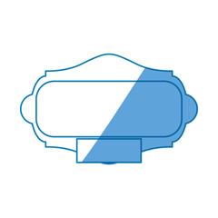 Decorative frame bannner icon vector illustration graphic design