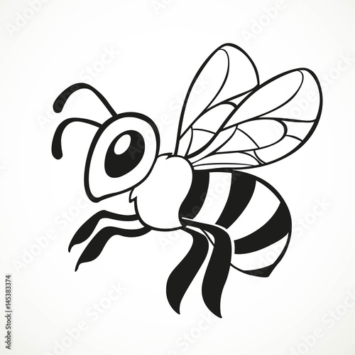 Flying bee graphic