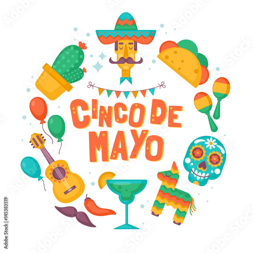 Cinco de mayo mexican holiday banner poster party invitation and cinco de mayo mexican holiday banner poster party invitation and greeting card design m4hsunfo