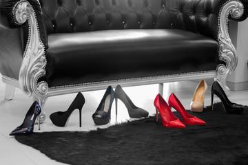 Women's high-heeled shoes
