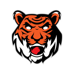 Tiger head mascot logo