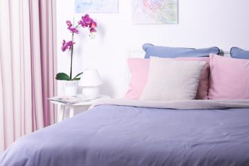 Part of interior in modern bedroom