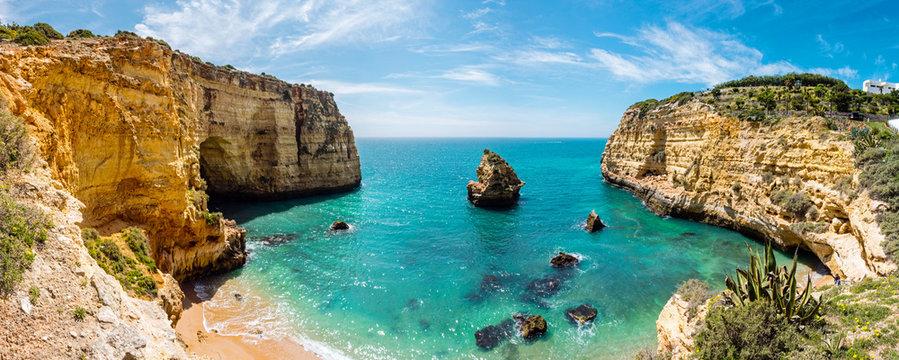 Meeresbucht, Praia do Vale Covo, Küste an der Algarve, Atlantik, Portugal