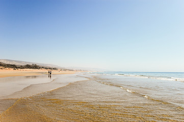 The beach of Taghazout