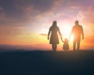 Sunset family walk
