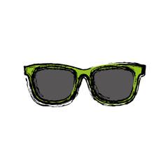 sunglasses icon over white background. colorful design. vector illustration