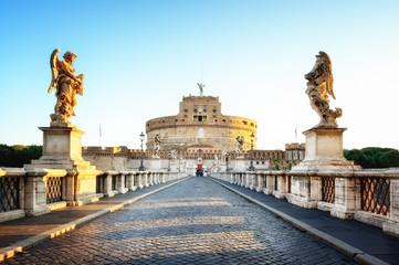 Foto op Plexiglas Rome Castel Sant'Angelo at dawn, Rome