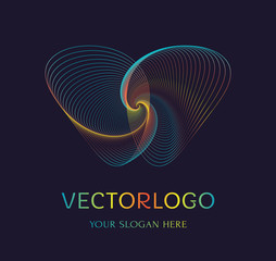 Abstract butterfly logo. Vector symbol.