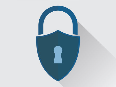 Cyber security with padlock