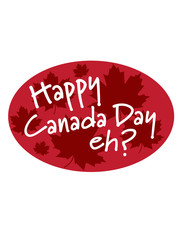 Happy Canada Day eh? maple leaves logo