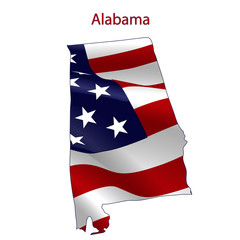 Alabama full of American flag