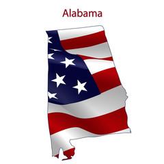 Alabama full of American flag
