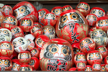 Daruma Dolls at Shorinzan Darumaji Temple, Japan