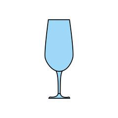 wine glass icon over white background. colorful design. vector illustration