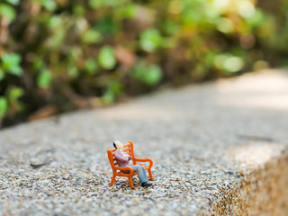Miniature people business traveler concept