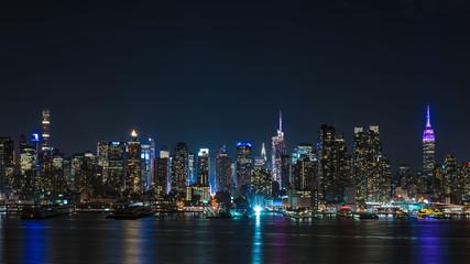 ニュージャージ州より望む、アメリカ・ニューヨークの夜景