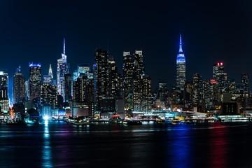 アメリカ・ニューヨークの夜景