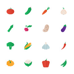 Vegetables vector icons