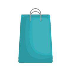 shopping bag icon over white background. vector illustration