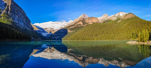 Serenity at Lake Louise, Banff National Park, Alberta, Canada.